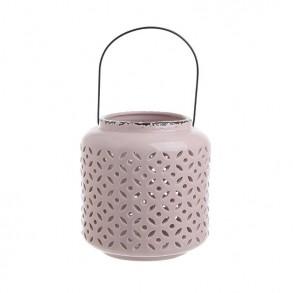 Διακοσμητικό κεραμικό ροζ φανάρι