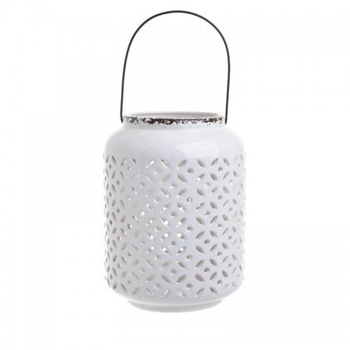 Διακοσμητικό κεραμικό λευκό φανάρι