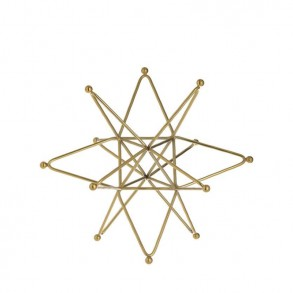 Διακοσμητικό μεταλλικό αστέρι 30x30cm