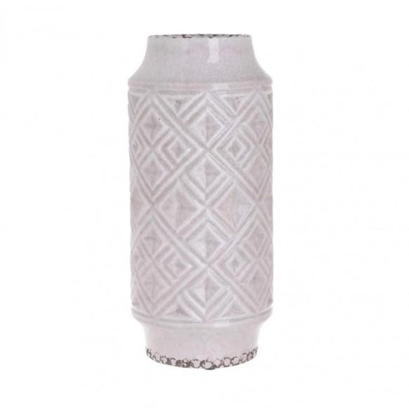 Βάζο κεραμικό αντικέ ροζ 16.5x36.5cm