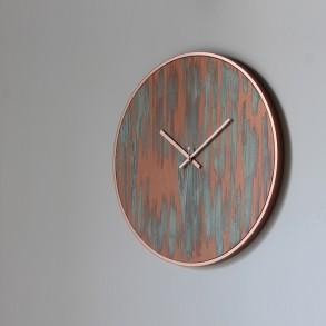 Ρολόι τοίχου rust copper