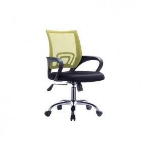 Υφασμάτινη καρέκλα γραφείου λαχανί