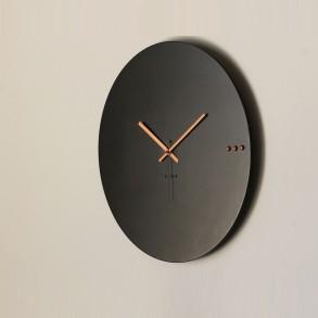 Ρολόι τοίχου tre black copper