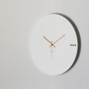 Ρολόι τοίχου tre white copper