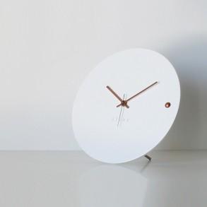 Ρολόι τοίχου tre white copper small
