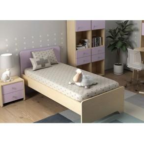 Παιδικό κρεβάτι μονό/Ημίδιπλο σε ροζ χρώμα