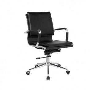 Ανατομική καρέκλα γραφείου από μαύροPU
