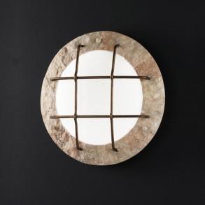 Πέτρινο φωτιστικό τοίχου Φ42 32W