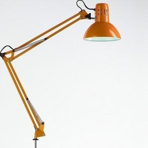 Φωτιστικό  γραφείου με σφιχτήρα σε πορτοκαλί χρώμα  Φ17