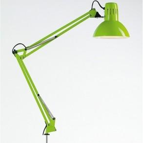 Φωτιστικό  γραφείου με σφιχτήρα σε πράσινο χρώμα  Φ17