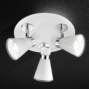 Γυάλινο φωτιστικό οροφής LED 3x5W Φ33