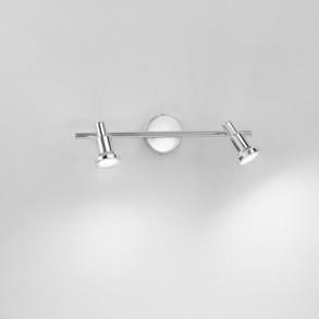 Μεταλλικό δίφωτο φωτιστικό τοίχου LED 2x3W