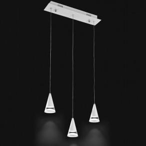 Μοντέρνο κρεμαστό πολύφωτο LED 3x5W