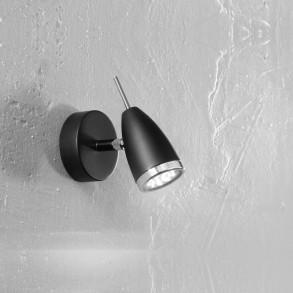 Μεταλλικό φωτιστικό σποτ σε μαύρο χρώμα LED 3W