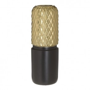 Βάζο κεραμικό μαύρο χρυσό