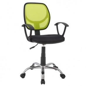 Καρέκλα γραφείου σε μαύρο & λαχανί χρώμα