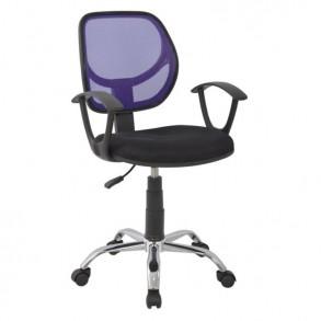 Καρέκλα γραφείου σε μαύρο & μωβ χρώμα