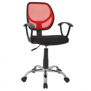 Καρέκλα γραφείου σε κόκκινο & μαύρο χρώμα