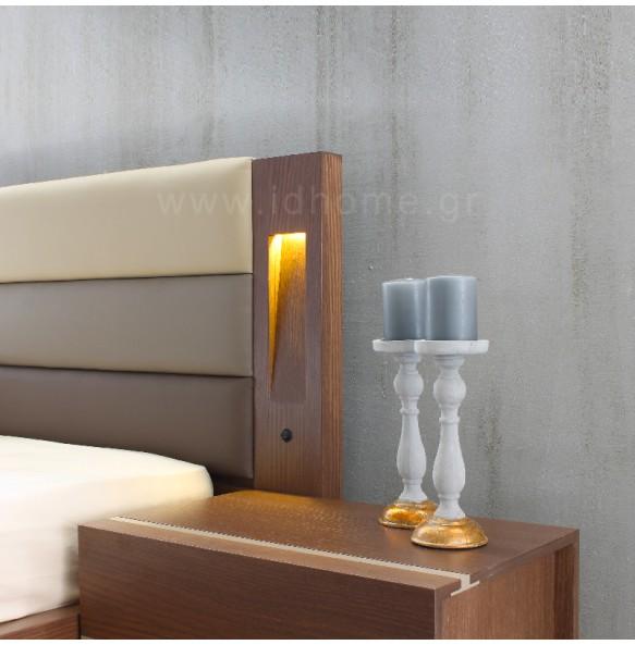 Σετ κρεβατοκάμαρα με φωτισμό στο κεφαλάρι