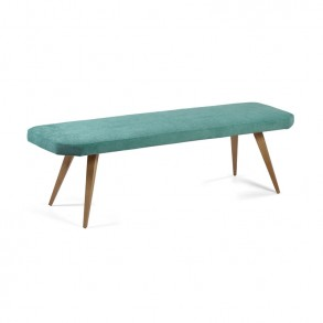 Μοντέρνο παγκάκι με ξύλινα πόδια