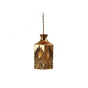 Γυάλινο φωτιστικό οροφής σε χρυσό χρώμα