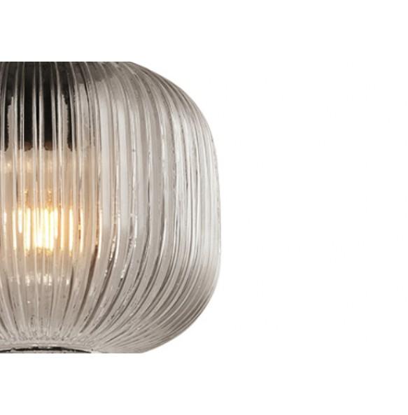 Κρεμαστό φωτιστικό με ανάγλυφο γυαλί Ø25cm
