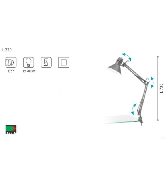 Επιτραπέζιο φωτιστικό clip