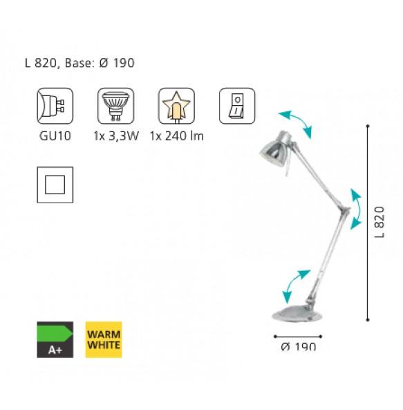 Μοντέρνο πορτατίφ Plano LED
