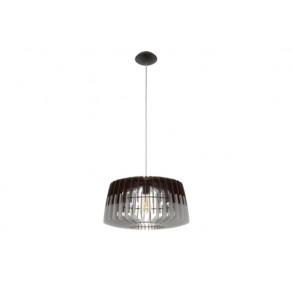 Κρεμαστό φωτιστικό γκρι μαύρο Ø48