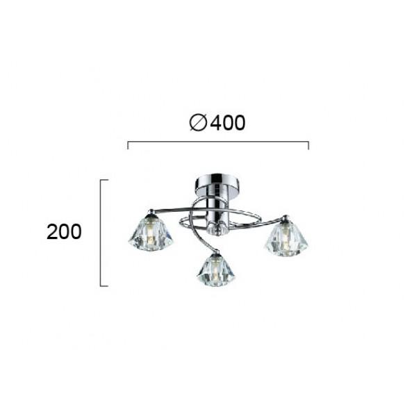 Design πλαφονιέρες οροφής Φ40