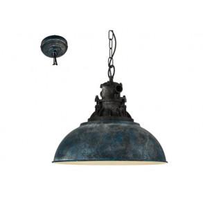 Κρεμαστό φωτιστικό σε μπλε χρώμα Ø37