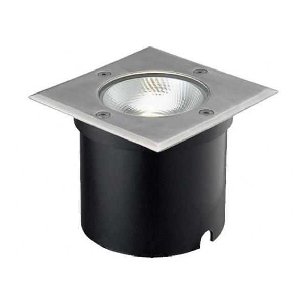 LED χωνευτό φωτιστικό δαπέδου 7W 21° 3000k