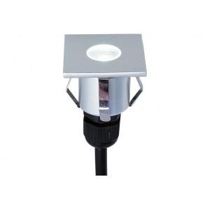 LED χωνευτό σποτ δαπέδου 1W 33° 3000k