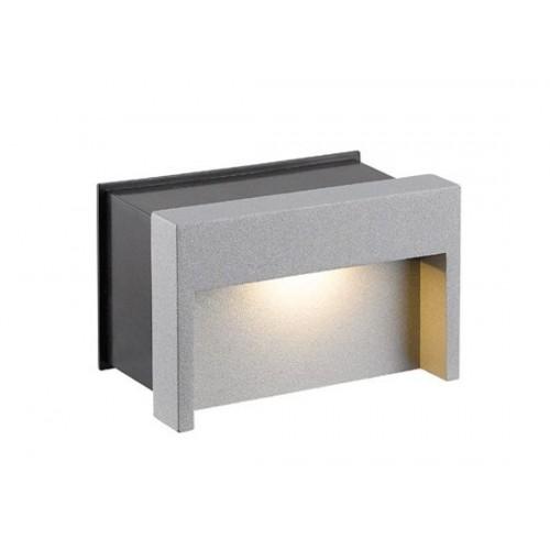 LED χωνευτή απλίκα τοίχου 3W 84° 3000k