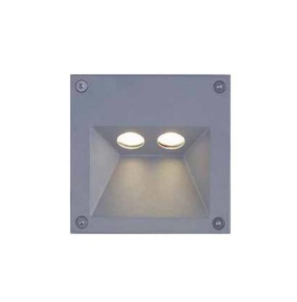 LED χωνευτή απλίκα τοίχου 2x1W 29° 3000k