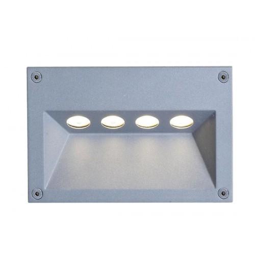 LED χωνευτή απλίκα εξωτερικού χώρου 4x1W 29° 3000k