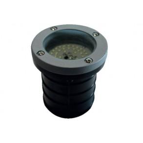 LED χωνευτό φωτιστικό εδάφους 2.6W 120° 3000k