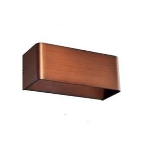 LED  φωτιστικό τοίχου σε απόχρωση ξύλου  2x3W 3000k