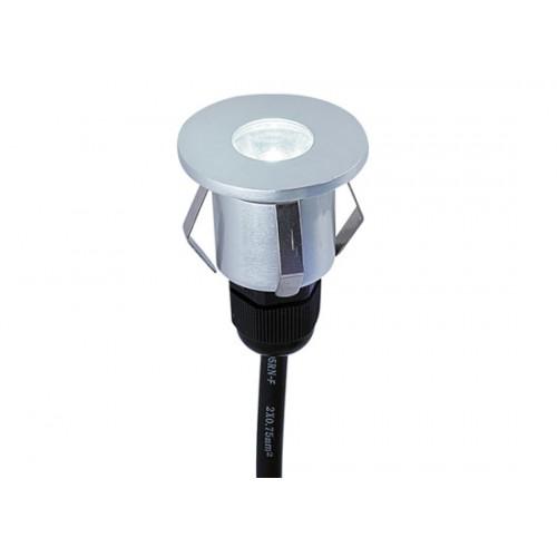 LED χωνευτό επιδαπέδιο φωτιστικό 1W 33° 3000k