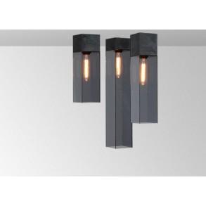 Φωτιστικό οροφής plexi σε μαύρο & γκρι