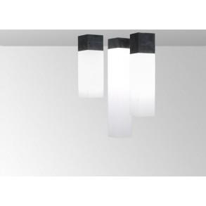 Φωτιστικό οροφής plexi σε μαύρο & λευκό