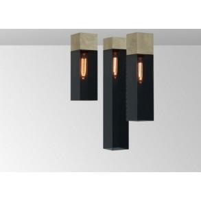 Φωτιστικό οροφής plexi σε χρυσό & μαύρο