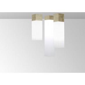 Φωτιστικό οροφής plexi σε χρυσό & λευκό