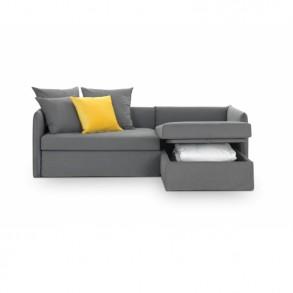 Γωνιακός καναπές – κρεβάτι με αποθηκευτικό χώρο