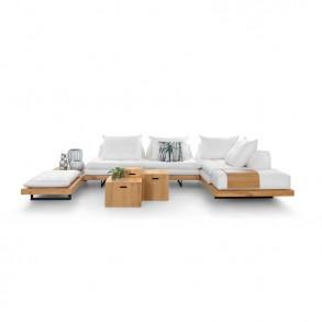 Σύνθεση καναπέ Loft με ξύλινη βάση