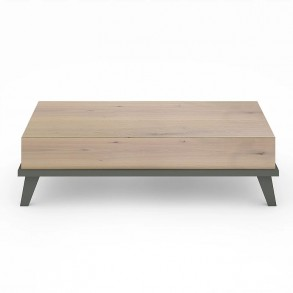 Τραπεζάκι με λακαριστή βάση & ξύλινη επιφάνεια