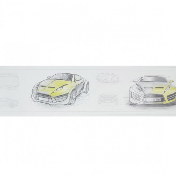 Ταπετσαρία τοίχου αυτοκινητάκια