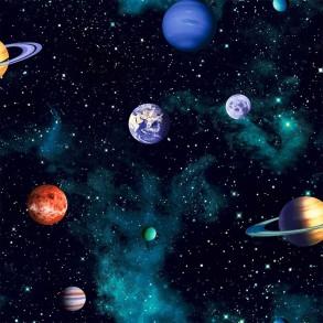 Ταπετσαρία τοίχου-Πλανήτες