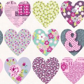 Ταπετσαρία τοίχου-Καρδιές