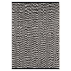 Χαλί Herringbone Μαύρο/Λευκό